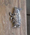 Vintage Barrera Mexico Sterling Pre Columbian Brooch