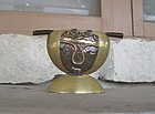 Vintage Mixed Metals Ashtray Maya Mexico Style