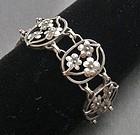 Vintage Leonore Doskow Hand Made Sterling Bracelet
