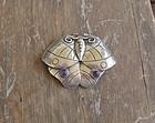 Vintage William Spratling Silver Amethyst Moth Brooch