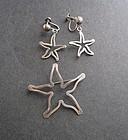 Vintage Modernist Jules Brenner Sterling Pin Earrings