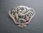 Vintage Sterling Silver Hand Wrought Doris Cliff Pin