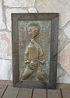 Colorado Artist Irvin Burkee Modernist Brass Plaque