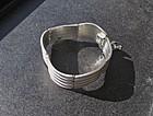 Vintage Modernist Mexican Sterling Silver Wave Bracelet