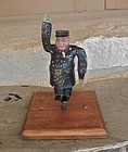 Rare Antique Policeman Radiator Cap Whirligig Folk Art