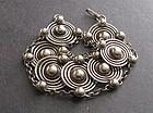 Vintage Sterling Silver Hand Made Bracelet Modernist