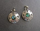 Vintage Mexico Sterling Four Leaf Clover Lucky Earrings