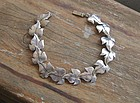 Vintage Sterling Silver Bracelet Vines Hand Made