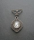 Vintage Gotham Sterling Marcasite Lapel Watch Brooch
