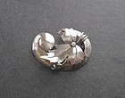 Vintage Arts and Crafts Sterling Brooch Hand Made