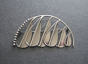 Important Early Margaret De Patta Silver Brooch Signed