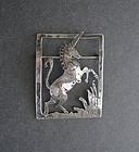 Vintage Sterling Arts Crafts Unicorn Brooch Jeanetta