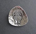 Vintage Laffi Hammered Sterling Brooch Pre Columbian