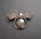 Rare Peter Traphagen Sterling Arts Crafts Brooch Pin