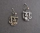 Vintage Modernist Rebajes King of Hearts Earrings