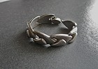 Vintage Modernist Sterling Silver Arrow Link Bracelet