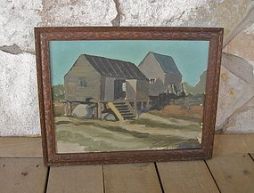 Listed Maine Artist Rupert Lovejoy 1928 Painting