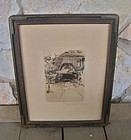 New York Artist Mathilde de Cordoba Signed Etching