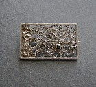 Modernist Abstract Sterling Stone Brooch Hallmarked
