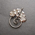 Vintage A Manca Sterling Brooch Arts Crafts Design