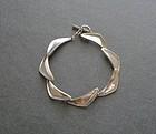 Danish Modernist Boomerang Sterling Bracelet Ulrich