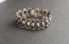 Vintage Mexico Silver Heavy Early Link Bracelet