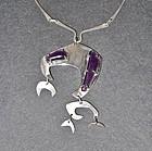 Hand Made Sterling Modernist Necklace Pendant