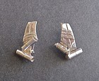 Spratling Sterling Ribbon Earrings First Design Period