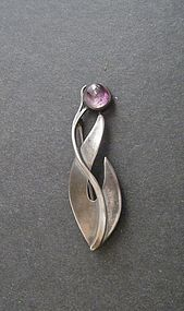 Vintage Hand Made Sterling Arts Crafts Style Brooch