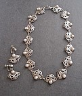 Vintage Taxco Sterling Necklace Earrings Set Pre Eagle