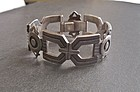 Vintage Modernist Heavy Sterling Taxco Bracelet Eagle