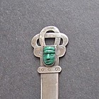 Vintage Sterling Mexico Letter Opener with Mask