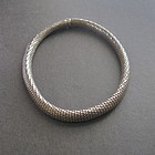 Vintage Sterling Silver Mesh Choker Necklace 16""