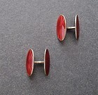 Vintage David Andersen Sterling Enamel Cuff Links