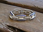 Vintage Sterling Enamel Germany Heavy Bracelet