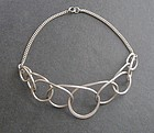 Modernist Henry Steig Vintage Sterling Wire Necklace