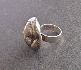 Vintage Modernist Isaac Cohen Sweden Ring Sterling