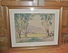 Early Texas Artist C. C. Pancoast Watercolor