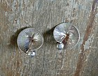 Vintage Scandinavian Sterling Hand Made Clip Earrings
