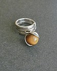 Sterling Modernist Elis Kauppi Dangle Ring Finland