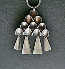 Vtg Modernist David Andersen Pendant Sterling Dangles