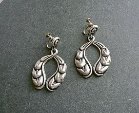 Vintage Early Mexican Sterling Earrings Ballesteros