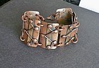 Copper and Brass Link Bracelet Chenet D'Haiti
