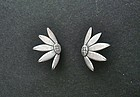 Sterling 950  Janiye Miye Matsukada Sunflower Earrings