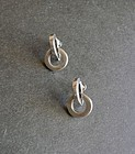 Margot de Taxco Sterling Modernist Earrings 5233