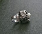 Amazing Sterling Modernist Huge Ring JENS Iceland