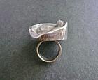 Vintage Swedish Sterling Modernist Druzy Ring