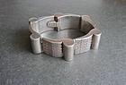 Vintage Modernist Sterling Beto Thick Link Bracelet