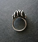 Studio Artist Ted Lowy Modernist Sterling Ring