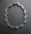 Vintage Sterling Taxco Link Necklace L.I.